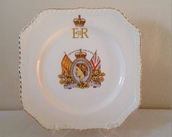 Johnson Brothers, 1953, Queen Elizabeth Coronation Plate, Coronation Plate.