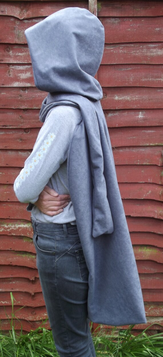 Cosplay cape cloak in faux suedette fabric with infinity scarf assassin  warrior hunter knight 2JcqxAt e42bfaa839bc