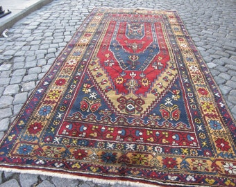 rug, turkish oushak rug, home rug, large area turkish rug, muted area vintage rug, 124,