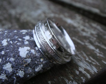Double Spinner Ring Handmade in 925 Sterling Silver