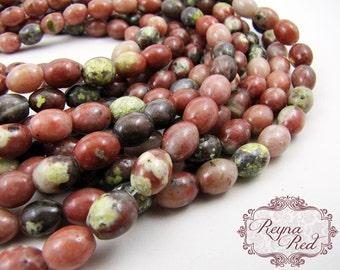 Natural Leopoldite Smooth Rice Beads, pink peach gemstone, rice beads, leopoldite, natural gemstones, gemstones - reynaredsupplies