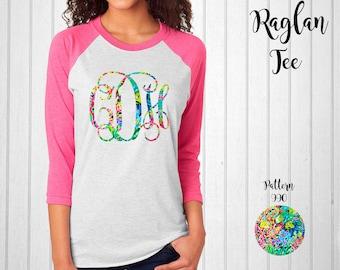 Monogram Shirt, Monogram Raglan Tee // Monogram T-Shirt in Pattern 990