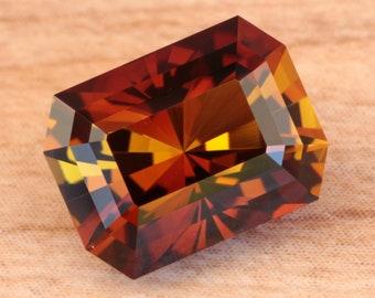 3.89 Carat Tanzanian Sunset Tourmaline Gemstone Precision Cut Gem