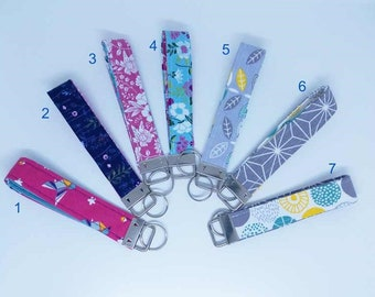 Wristlet Key Fob, Fabric Key chain for women, Keyring
