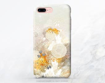 "iPhone X Case iPhone 8 Case iPhone 7 Case ""White Velvet"" by I. Abolina iPhone 7 Plus Case Floral iPhone SE Case Tough Galaxy S8 Case I66"