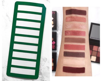 9 Section Makeup Swatch Stencil