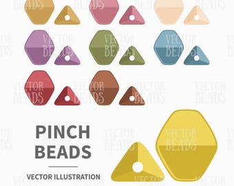 Vector Clip Art Set of Pinch Beads - Instant Download