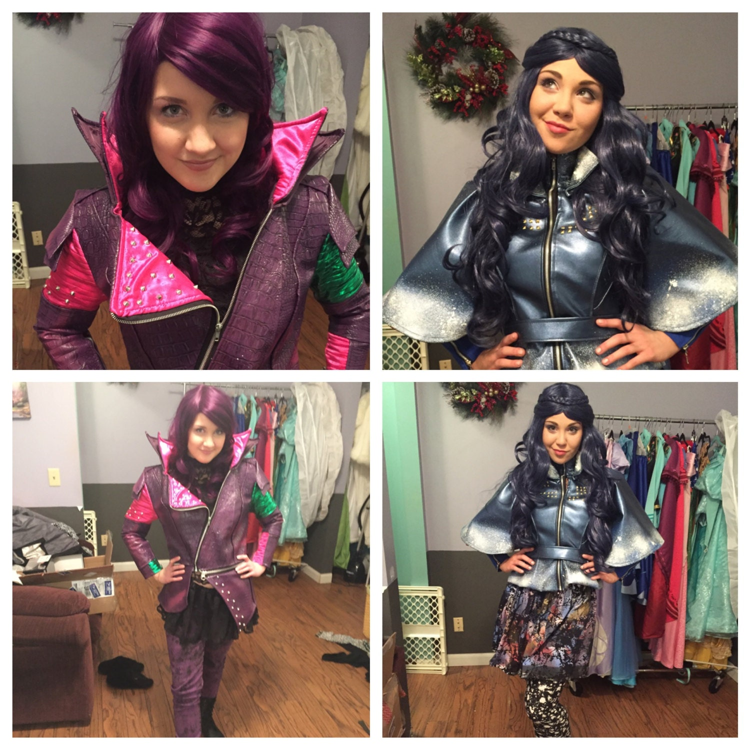 Famous Disney Descendants Mal and Evie Jackets ONLY Custom made Adult WW28