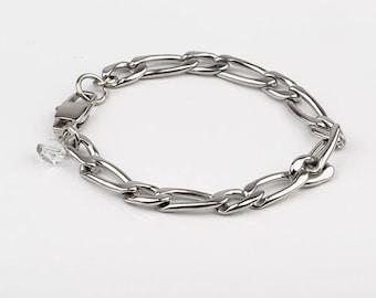 Bracelet stainless steel and swarovski