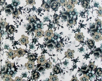 Set of 3 sheets of paper Decopatch flowers black / grey
