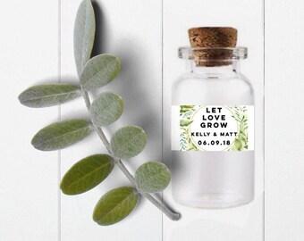 Let Love Grow-Seed favor jar-seed favor bottle-Custom seed packet-Wedding seed packet-wedding seed pack-seed packet wedding favors-wedding