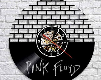 Pink Floyd Music Band Gift Vinyl Record Wall Clock