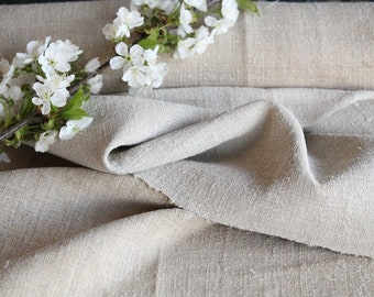 SP69 antique handloomed laundered 8.96 yards french 리넨 26.77inches wide upholstering curtain projects wedding PALE NATURAL , vintage,