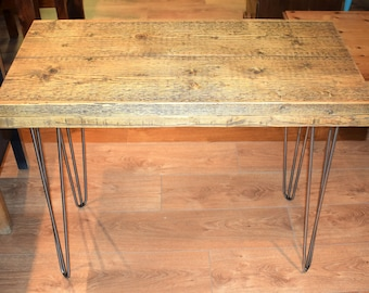 Reclaimed Wooden Desk on Hairpin Legs