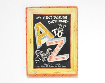 From A to Z - My First Picture  Dictionary // Lowe Company 1955 // Rare Vintage Book for Children