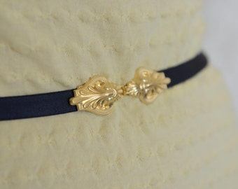 Waist Belt - Black Belt - Skinny Belt - Bridesmaid Belt - Gold Belt - Bridesmaid Accessories - Dress Belt - Elastic Belt - Stretch Belt