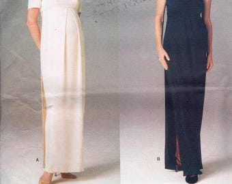 Size 8-12 Misses' Maternity Dress Sewing Pattern - Maternity Evening Gown - Strapless Dress Pattern - Vogue 1689