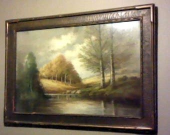 No. 01 Listing is ANTIQUE ARTWORK  framed signed what looks like Beth from  1880's in original frame 25 x 35