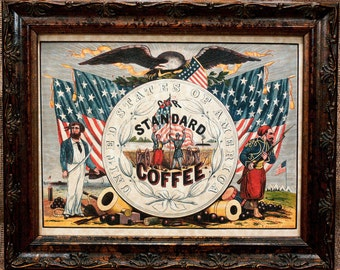 Standard Coffee Ad from 1862 Art Print on Parchment Paper