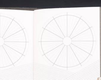 Traveller's Notebook Daily Calendar Inserts - STANDARD size Midori style printable inserts. Flexible 12hr Calendar Clocks.
