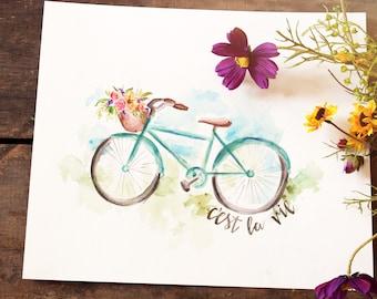 Vintage bike Print