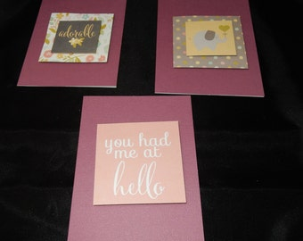 Love/Baby Themed Cards (envelope included)