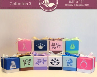 SVG Favors Gift Box Collection 3