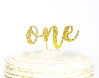 First Birthday Cake Topper, One Cake Topper, Cake Topper, First Birthday, Glitter Cake Topper, Birthday Cake, Birthday Cake Topper, One Year