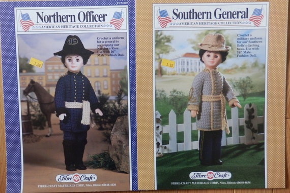 Fibre Craft Set Of 2 Crochet Doll Patterns Southern General Northern