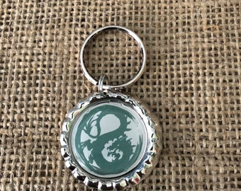 L5R Dragon clan bottle cap keychain
