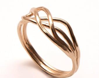 Infinity Ring - 18k Gold Ring, Knot ring, wedding ring, promise ring, forever ring, handmade ring, 3