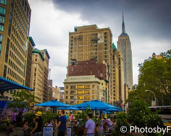 Colorful Empire State Building Custom Photo