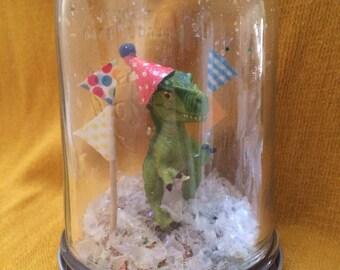 """Party Animal """"Snow Globe"""" - Dinosaur!"""