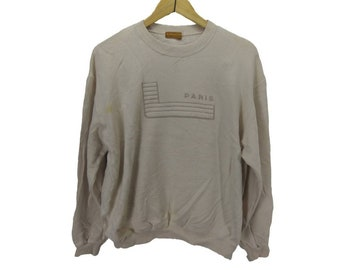Rare! Vintage Lancel Paris Big Embroidery Logo. Cream Colour.