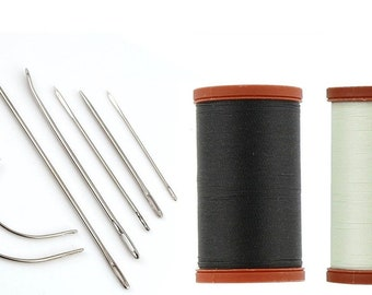 NEW Best Price! Upholstery Repair Kit! Coats & Clark Extra Strong Upholstery Thread Spool, 1 Black Spool (150-Yards) Includes 7 Needles