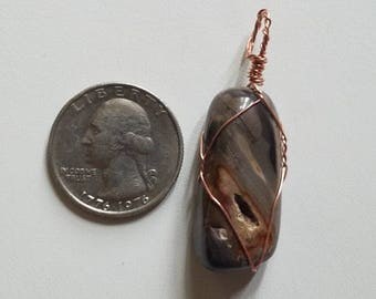 Agate Copper Pendant
