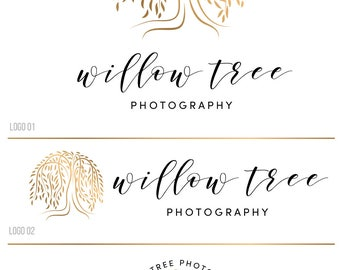 WillowTree logo, Photography logo and watermark, Nature logo, Small business logo, Custom Logo design, Premade logo Premade branding kit 159