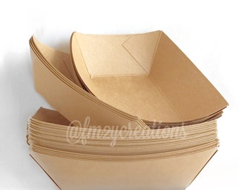 Karft Paper Food Trays | 1 lb. Food Boats | Concession | Party Food Trays | Hot Dog Tray | Baseball Party | Food Boxes | Snack Box