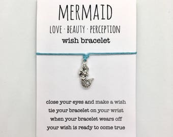 mermaid jewelry, friendship bracelet, beach anklet, party favour, bridesmaid gift