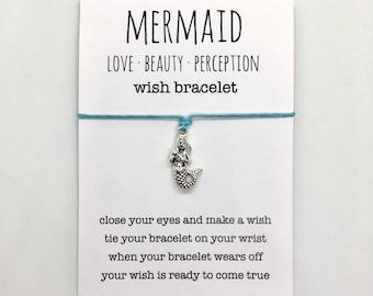 wish bracelet, beach anklet, party favour, friendship bracelet, mermaid jewelry, bridesmaid gift