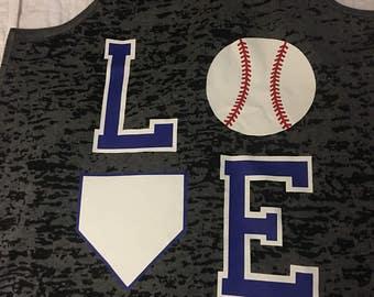 Love baseball tank or Tshirt