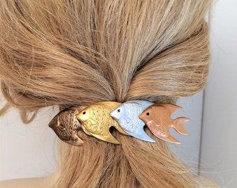 Fish Hair barrette, large French Hair Barrette