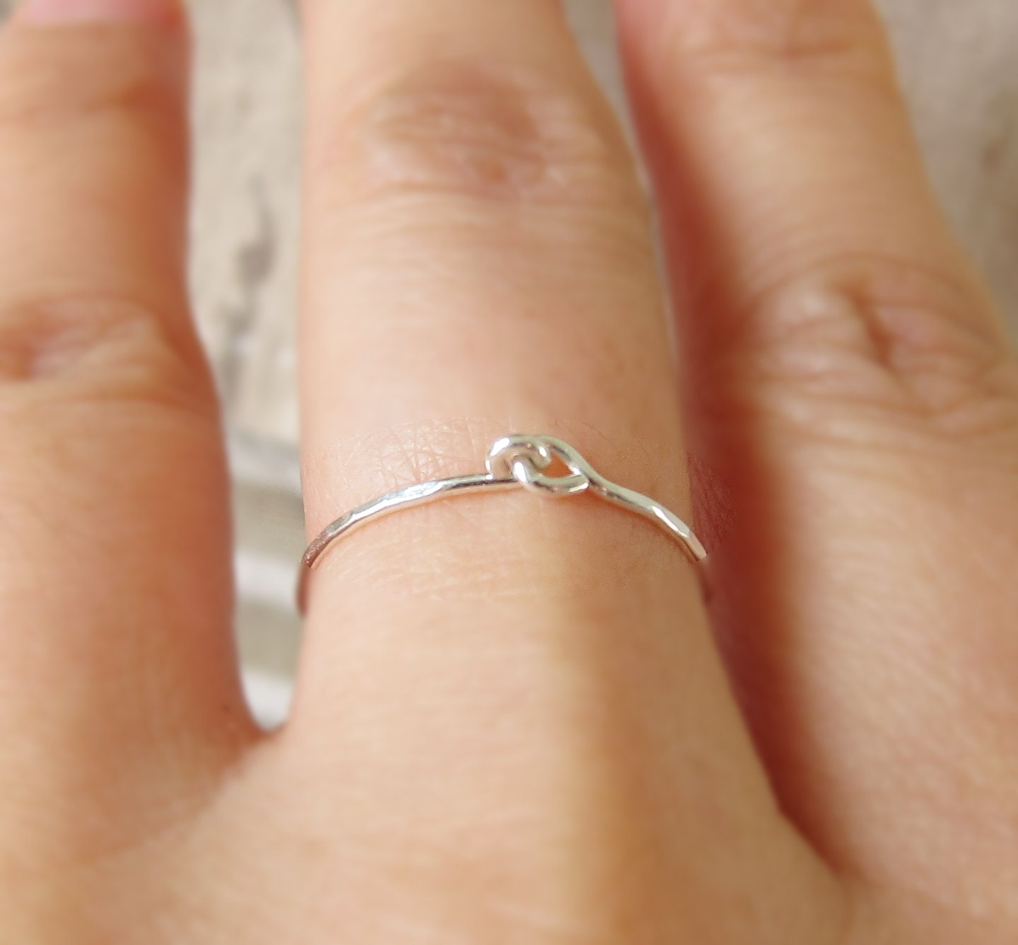 Holding Hands Ring Hand Hammered Love Ring-Holding Hands