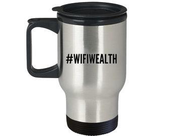 Wifi Wealth™ Entrepreneur Travel Coffee Mug