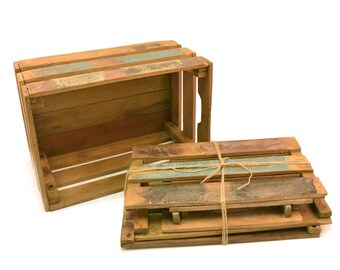 Vintage Reclaimed Wood Crate,  ship flat  ,  HHHCrate2 , sold by each