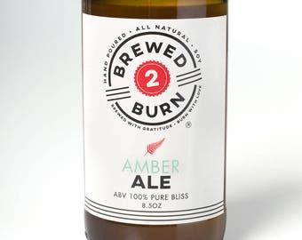 Amber Ale 8.5 oz soja bougie - Craft Beer inspiré