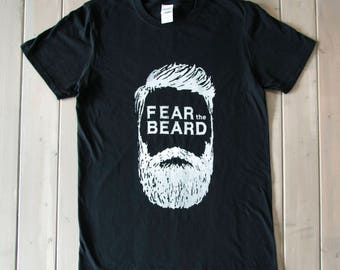 Funny Mens Shirt, Gift For Him, Beard Shirt, Mens Graphic Shirt, Hipster Shirt, Mens Clothing, Fear The Beard Shirt, Fathers Day Gift
