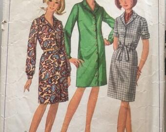 Vintage Simplicity 6700 Plus Size Dress Pattern-size 20 1/2 (41-35-45)