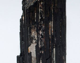 Black Tourmaline/Schorl Crystal XL No. 7 with stand area 325 grams