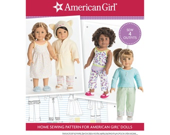 """Simplicity Pattern 8281 American Girl 18"""" Doll Clothes"""